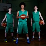 Irish U16 Basketball team members