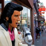 Elvis statue singing on broadway downtown Nashville Tennessee USA